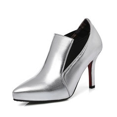 Women's Leatherette Stiletto Heel Ankle Boots shoes (088091714)