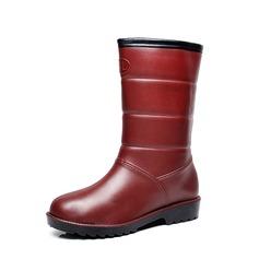 Женщины PVC Вид каблука Ботинки Сапоги до середины голени Резиновые сапоги с Другие обувь (088138751)