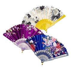 Цветочный дизайн пластиковые/Щелк стороны вентилятора (набор из 4) (051040467)