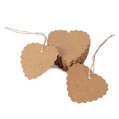 в форме сердца в форме сердца/Сердце дизайн крафт-бумаги Тэги (набор из 100) (051166364)