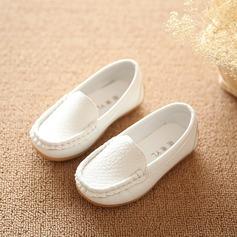 Unisexmodell Round Toe Lukket Tå Leather Flate sko (207165059)