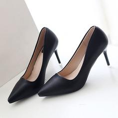 Donna Similpelle Tacco a spillo Stiletto Punta chiusa scarpe (085111852)