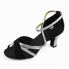 Женщины Атлас На каблуках Сандалии Латино с Ремешок на щиколотке Обувь для танцев (053013125)