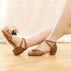 Детская обувь кожа Латино с Ремешок на щиколотке Обувь для танцев (053107719)