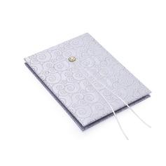 Argento Scroll Di faux perla Guestbook (101018216)