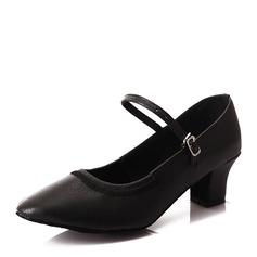 Женщины кожа На каблуках Современный Джаз Обувь для танцев (053166328)