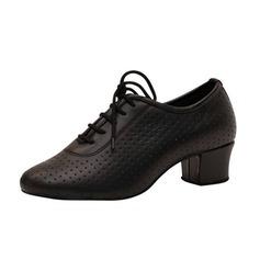 Женщины Натуральня кожа На каблуках Практика Обувь для танцев (053046425)