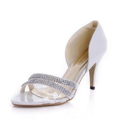 Patent Leather Stiletto Heel sandalen Pumps met Bergkristal schoenen (087039896)