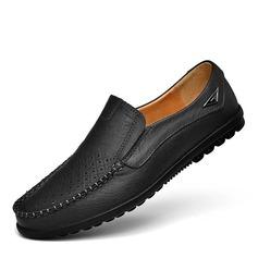 Мужская натуральня кожа U-Tip вскользь Men's Loafers (260172132)