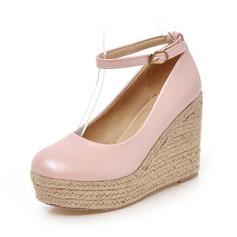 Женщины кожа Вид каблука На каблуках Закрытый мыс обувь (116089840)