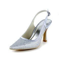 Mulher Espumante Glitter Salto carretel Fechados Plataforma (047036490)