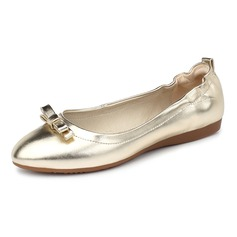 Women's Leatherette Flat Heel Flats Closed Toe shoes (086092181)