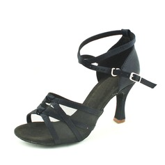 Женщины Атлас На каблуках Сандалии Латино с Ремешок на щиколотке Обувь для танцев (053013001)