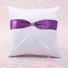 Lovely Ring Pillow in Satin With Ribbons/Rhinestones (103037454)
