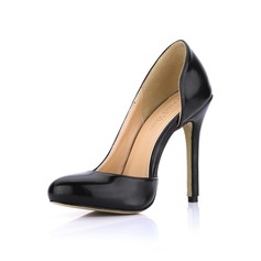 Femmes Similicuir Talon stiletto Escarpins Bout fermé chaussures (085022574)