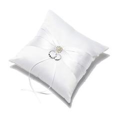 Pure Elegance Ring Pillow in Satin With Sash/Rhinestones (103049649)