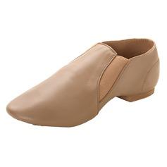 Женщины кожа На плокой подошве Джаз Обувь для танцев (053103647)
