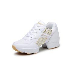 Женщины кожа Ткань Танцевальные кроссовки Танцевальные кроссовки Обувь для танцев (053093943)