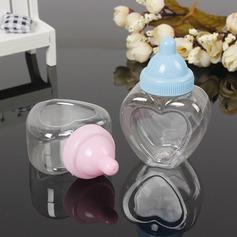 Kreative/Dejligt Hjerte Formede Plastic Slikkrukker og Flasker (sæt af 12) (050166447)