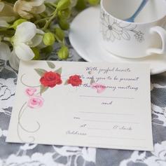 цветочный Стиль Плоская карта Invitation Cards (набор из 50) (114063988)