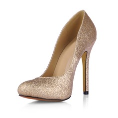 Women's Sparkling Glitter Stiletto Heel Pumps Closed Toe shoes (085017508)