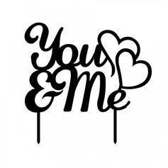 Brief You & Me Acryl Huwelijk Taarttoppers/Vrijgezellenfeest Taarttoppers (119063259)
