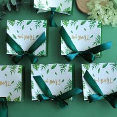 Довольно цветочная тема сумка форму картона бумаги Мешочки с Ленты (набор из 20) (050203432)