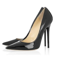 Patent Leather Stiletto Heel Pumps Closed Toe schoenen (085044456)