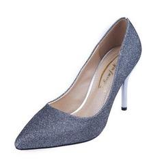 Женщины кожа Высокий тонкий каблук На каблуках Закрытый мыс обувь (085093015)