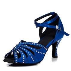 Женщины Холст На каблуках Сандалии Латино с В дырочку Обувь для танцев (053103497)