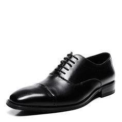 Мужская натуральня кожа Cap Toes шнуровка вскользь Платья Men's Oxfords (259209735)