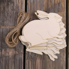 Creative Gifts Classic Easter Rabbit Wooden (Set of 10) Non-personalized Gifts (129154553)