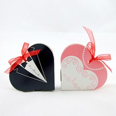 Tuxedo & Gown Heart-shaped Favor Boxes With Ribbons (Set of 12) (050016117)