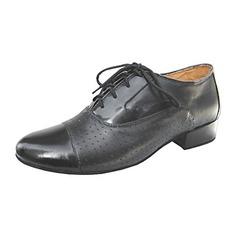 De los hombres Piel Tacones Danza latina Sala de Baile Entrenamiento zapatos de personaje Zapatos de danza (053013190)