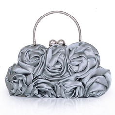 Elegant Silk Wristlets/Top Handle (012005403)