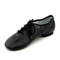 Женщины Натуральня кожа На плокой подошве Джаз Обувь для танцев (053089787)