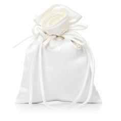 Prächtig Satin mit Nachahmungen von Perlen/Spitze Braut Geld-Beutel (012029649)