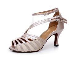 De mujer Cuero Tacones Danza latina con Hebilla Zapatos de danza (053041182)