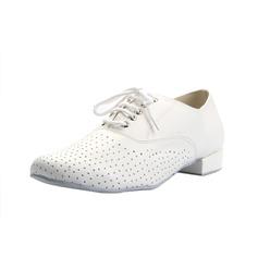 Herren Echtleder Heels Latin Ballsaal Training Charakter Schuhe mit Zuschnüren Tanzschuhe (053056029)