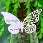 Vlinder ontwerp Parel Papier Plaatskaarten (set van 12) (131037411)