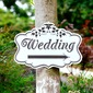 Attractive Simple/Classic Wooden Wedding Sign (131067109)