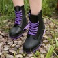 Women's PVC Low Heel Boots Mid-Calf Boots Rain Boots With Lace-up shoes (088131035)
