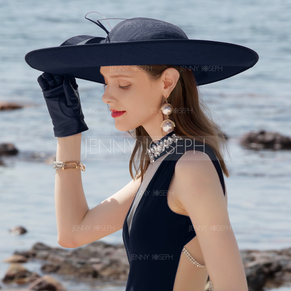 7741f56fb Ladies' Elegant Cambric With Bowknot Bowler/Cloche Hats/Kentucky ...