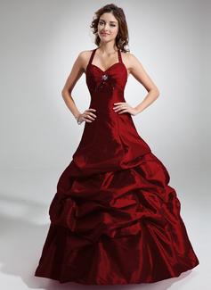 A-linjainen/Prinsessa Niskalenkillä Lattiaa hipova pituus Tafti Quinceanera mekko jossa Rypytys Helmikuvoinnit (021020766)