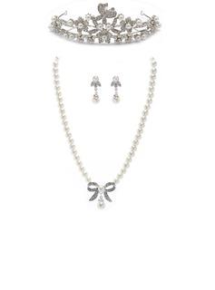 Kaunis Metalliseos/Pearl jossa Tekojalokivi Sonar Naisten Korut lavastus (011027519)
