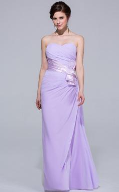 Sivu Kultaseni Lattiaa hipova pituus Sifonki Morsiusneitojen mekko jossa Rypytys (007037302)