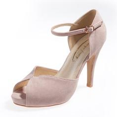 ante Tacón stilettos Sandalias Salón Plataforma Encaje con Hebilla zapatos (087059849)