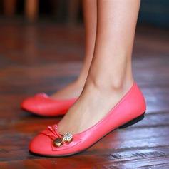 De mujer Cuero Tacón plano Planos Cerrados con Hebilla zapatos (086124736)
