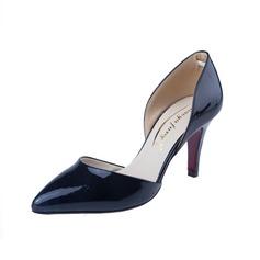 Piel brillante Tacón stilettos Salón Cerrados zapatos (085059871)
