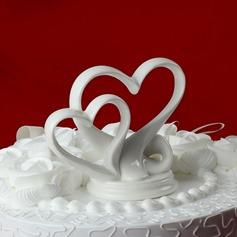Corazones Dobles Cerámico Boda Decoración de tortas (119030540)